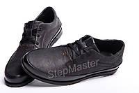Кожаные мужские туфли Tommy Hilfiger Black, фото 1