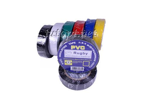 """Изолента """"PVC"""" Цветная длина - 20м, ширина - 19мм, толщина - 0,13мм."""