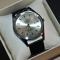 Мужские наручные часы Rolex ( Ролекс ) серебристые с бежевым циферблатом