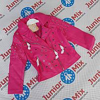 Куртка весенняя на девочку  кожзам  NOVO STYLE