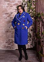 Демисезонное пальто с аппликацией,  с 48-82 размер, фото 1