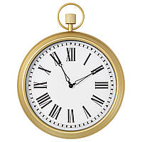 """ИКЕА """"ОМЕДЕЛЬБАР"""" Настенные часы, бронзовый под антиквариат, 45см."""