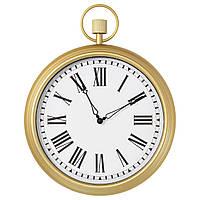 """ИКЕА """"ОМЕДЕЛЬБАР"""" Настенные часы, бронзовый под антиквариат, 45см., фото 1"""