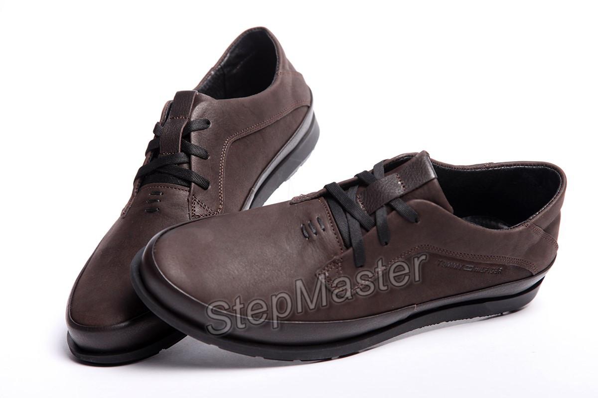 Кожаные Мужские Туфли Tommy Hilfiger Brown — в Категории