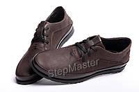 Кожаные мужские туфли Tommy Hilfiger Brown, фото 1
