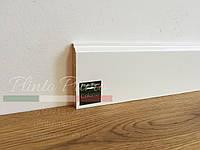 Плинтус белый деревянный Колониал 60 мм