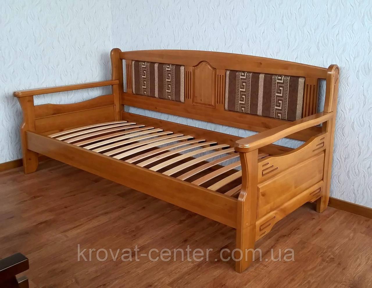 """Деревянный диван кровать с мягкой спинкой """"Орфей - 2"""""""