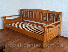 """Дерев'яний диван ліжко з м'якою спинкою """"Орфей - 2"""""""