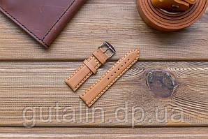 Шкіряний ремінець для годинника art.1 колір лисиця. Розмір 22