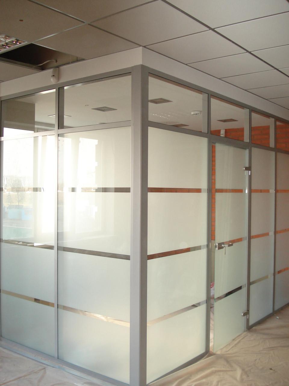 Стационарные перегородки для офиса, изготовление и монтаж