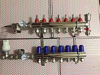 Коллектор Koer на 10 выхода в полном сборе без насоса со смесительной группой и расходомерами