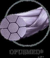 Нитка полигликолевая кислота (ПГА) плетеная 4/0 (1,5) 0,75, 1/2, 19мм К1