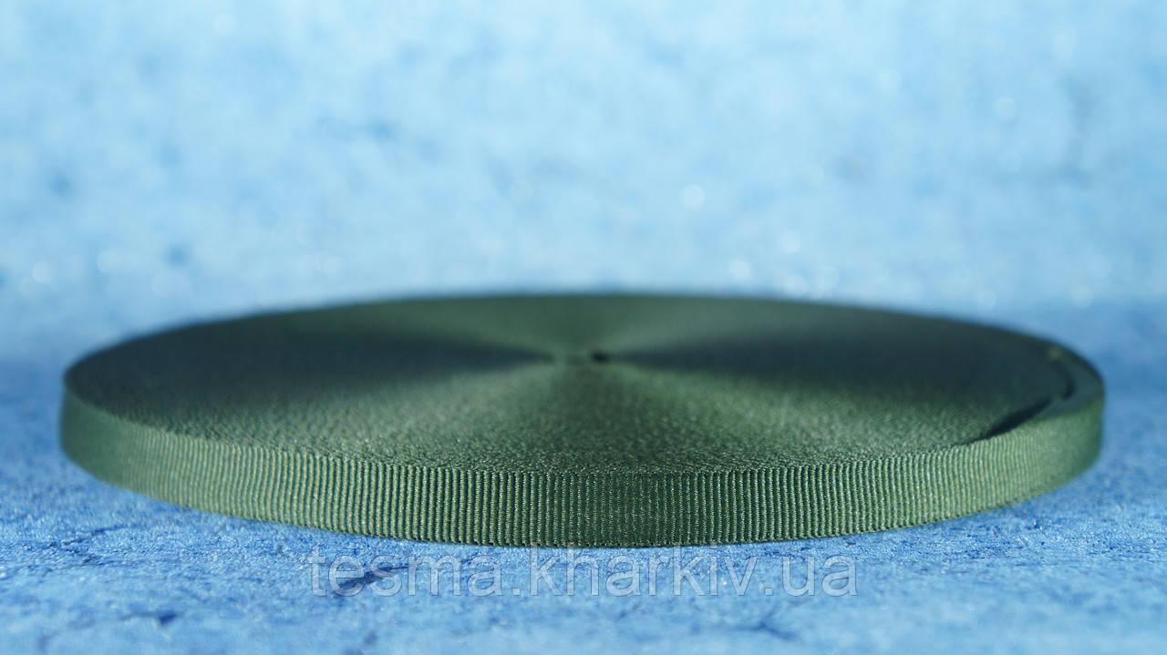 Лента репсовая 10 мм Оливка