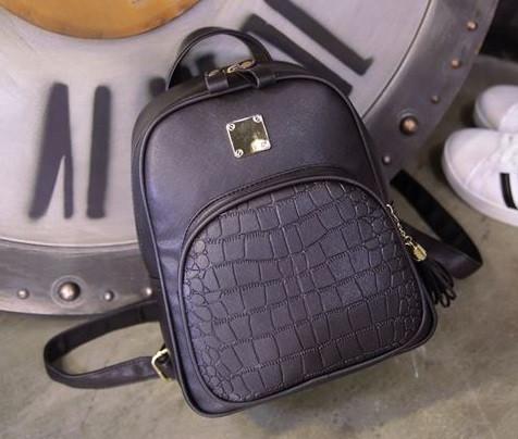 Женский Черный Рюкзак на Молнии — в Категории