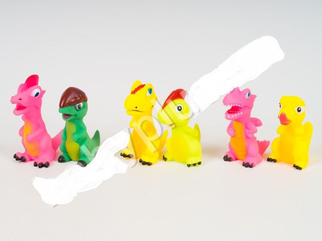 Динозавры для купания, пищалка, от 10см, микс видов, в кульке