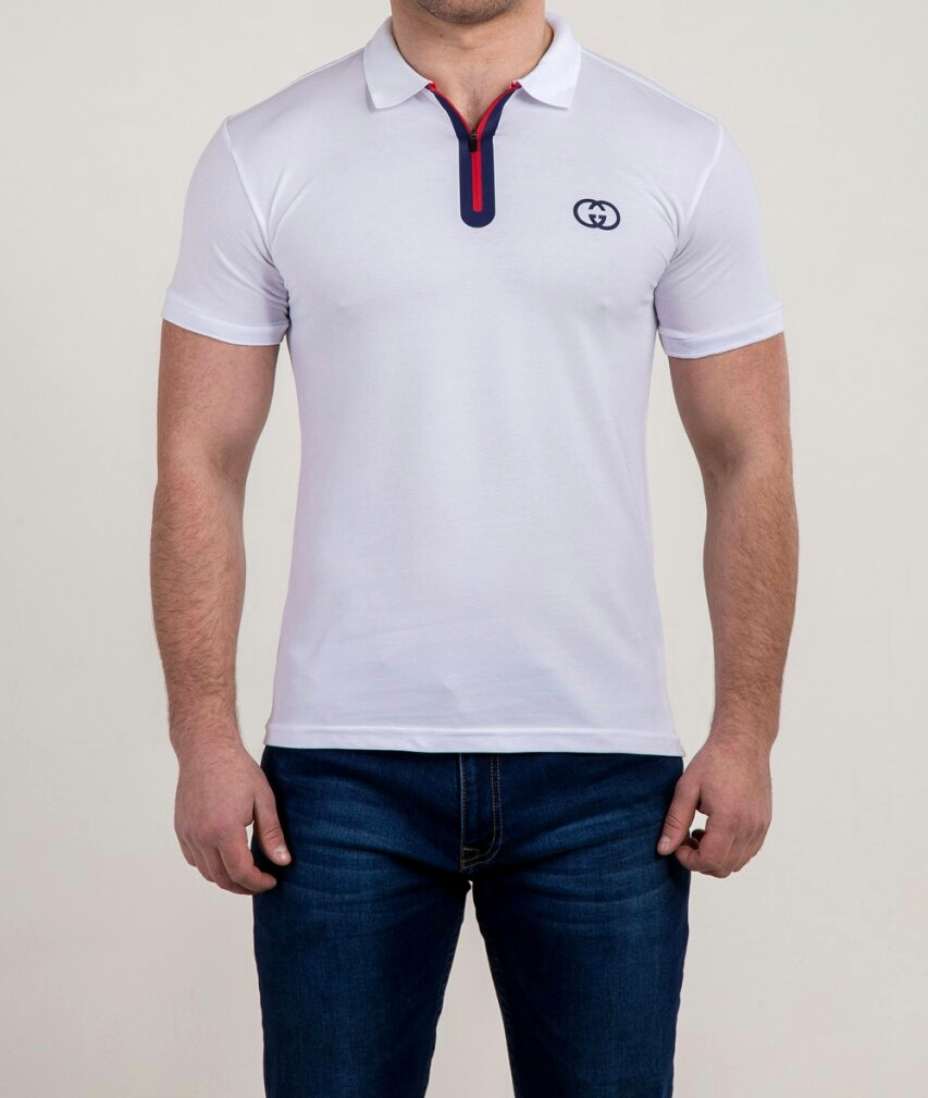 Мужская футболка ПОЛО GUCCI молния, фото 1