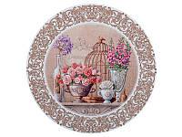 """Подставка-картина под горячее круглая """"Цветочный рай""""  Ø180 мм  072-021"""
