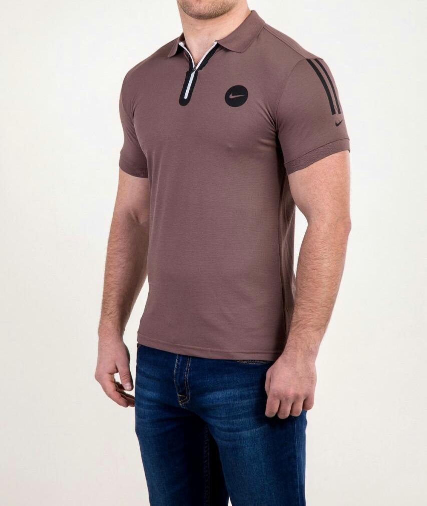 Мужская футболка ПОЛО NIKE молния, фото 1