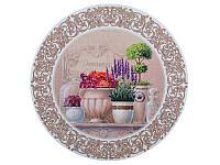 """Подставка-картина под горячее круглая """"Цветочный прованс""""  Ø180 мм  072-023"""