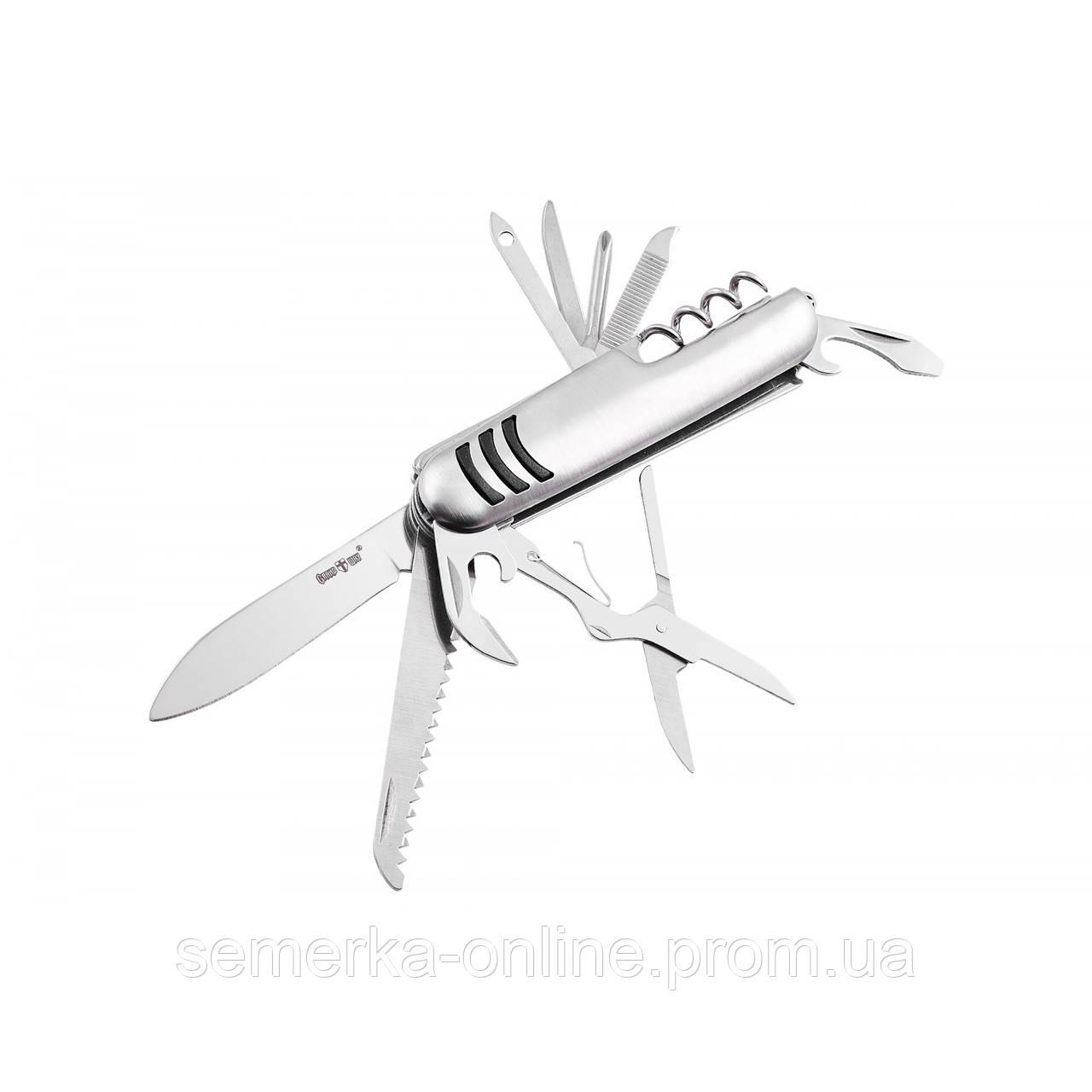 Швейцарский многоцелевой нож. Складной мультитул. 11 функций. Будет отличным помощником в быту.