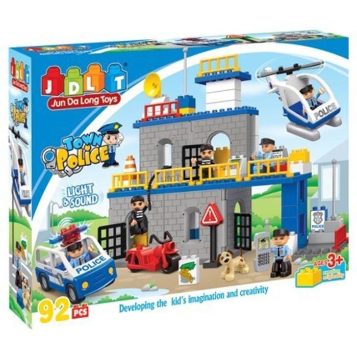 """Конструктор JDLT 5136 (реплика Lego Duplo) """"Полицейский участок"""", 92 детали"""