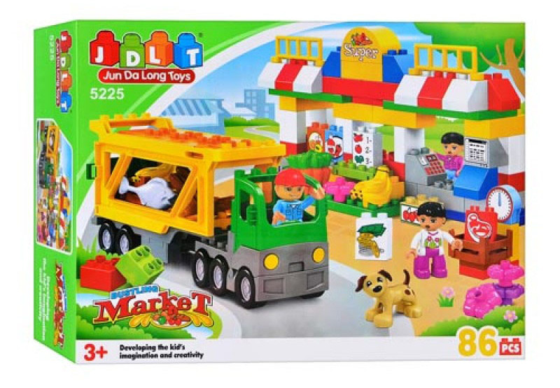 "Конструктор JDLT 5225 (аналог Lego Duplo) ""Супермаркет"" 86 дет"