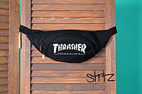 Текстильная спортивная барыжка бананка трэшер Thrasher черная