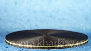 Лента репсовая 10мм коричневый/беж/коричневый