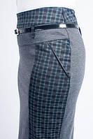 Женская деловая юбка из трикотажа, зеленая клетка, фото 1