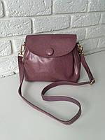 """Женская кожаная сумка """"Пуговка 3 Pink"""", фото 1"""