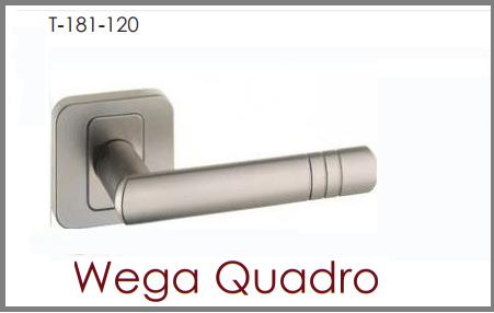 Дверная ручка Nomet  WEGA QUADRO никель матовый G5