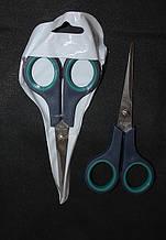 Ножницы бытовые с зеленной ручкой маленькие