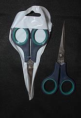 Ножницы бытовые с зеленными ручками маленькие №1