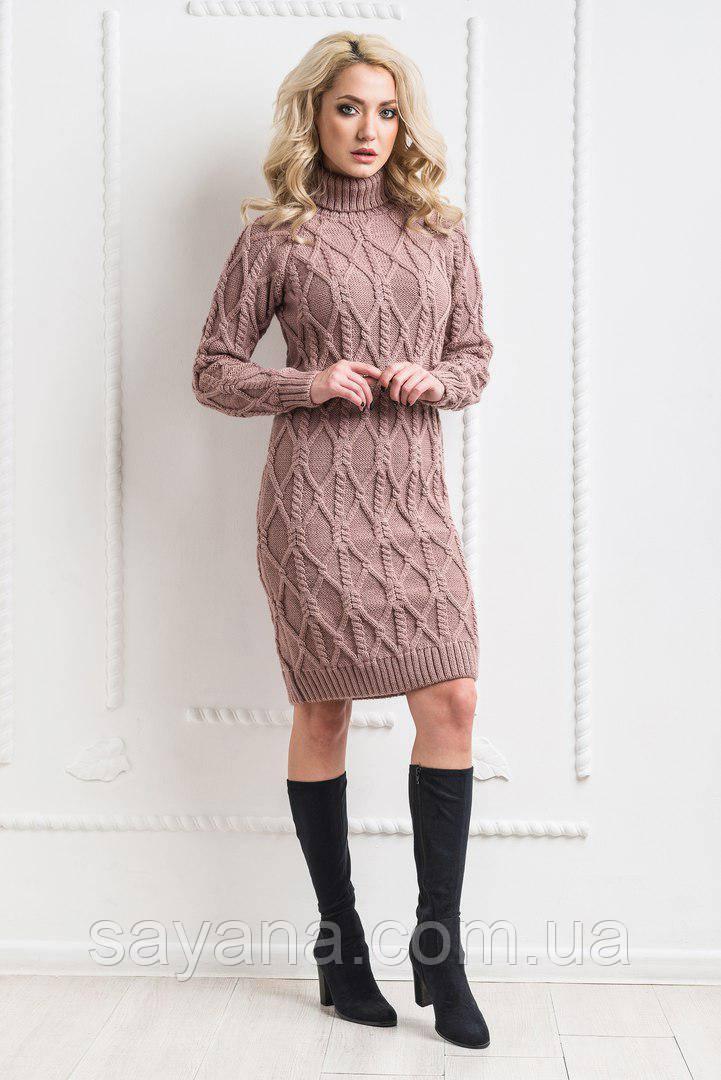 1ffe988ea4c Женское вязаное ажурное платье в расцветках. КБ-1-0318 - Оптово-розничный