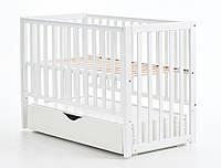 Детская кроватка Верес ЛД13 маятник/ящик белый