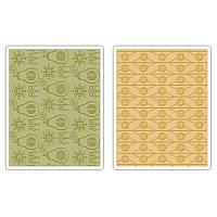 Папки для тиснения Sizzix 2PK - Flowers & Pears Set , 657256