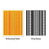 Папка для тиснения + штамп Sizzix - Fun Stripes Set , 658281
