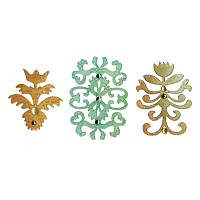 Ножи Sizzix Set 3PK - Floral Insignia Set , 657739