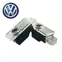 Штатная Led подсветка двери с логотипом Volkswagen Touareg,Phaeton,Passat.