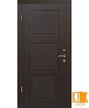 """Вхідні двері серії Стандарт ПВХ """"Верона 3"""" (венге горизонтальний)"""