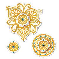 Ножи + штампы Sizzix 4PKs - Moroccan Flowers , 658397