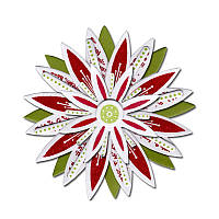 Ножи + штампы Sizzix 6PKs - Flowers , Star , 658621