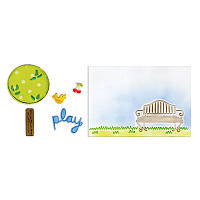 Ножи для вырубки + папки Sizzix 5PK - Playing in the Park Set , 658539