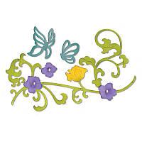 Ножи для вырубки Sizzix 6PK - Butterflies & Flower Vine , 658944