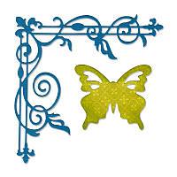 Ножи для вырубки Sizzix 2PK - Corner Flourish & Butterfly , 659012