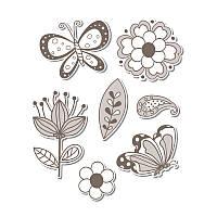 Ножи + штампы Sizzix 7PK - Flowers & Butterflies , 657778