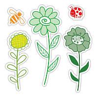 Ножи + штампы Sizzix 5PKs - Garden Flowers Set , 657852