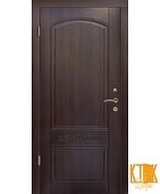 """Вхідні двері серії Стандарт ПВХ """"Каприз"""" (темний горіх)"""