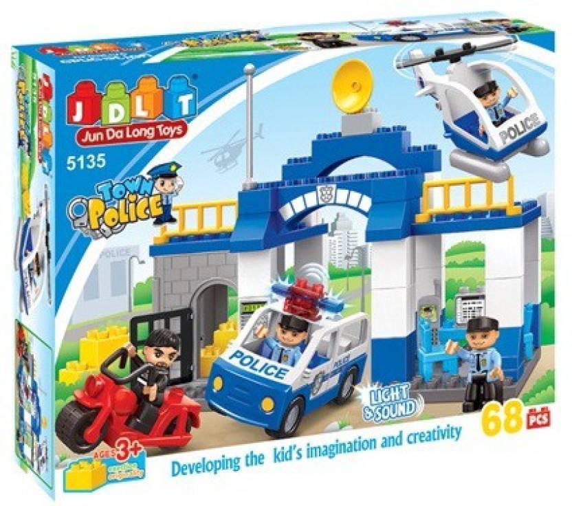 Конструктор JDLT 5135 Полицейский участок, 68 дет.
