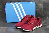 Кроссовки мужские Adidas Flux бордовые